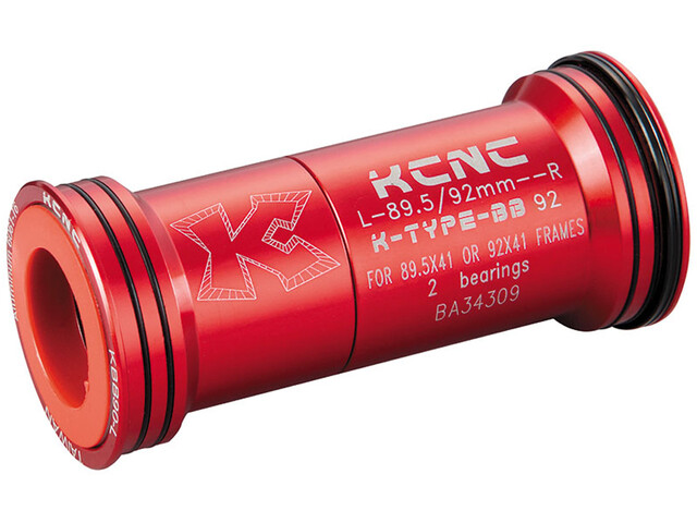 KCNC BB92 Press Fit Adaptateur, red